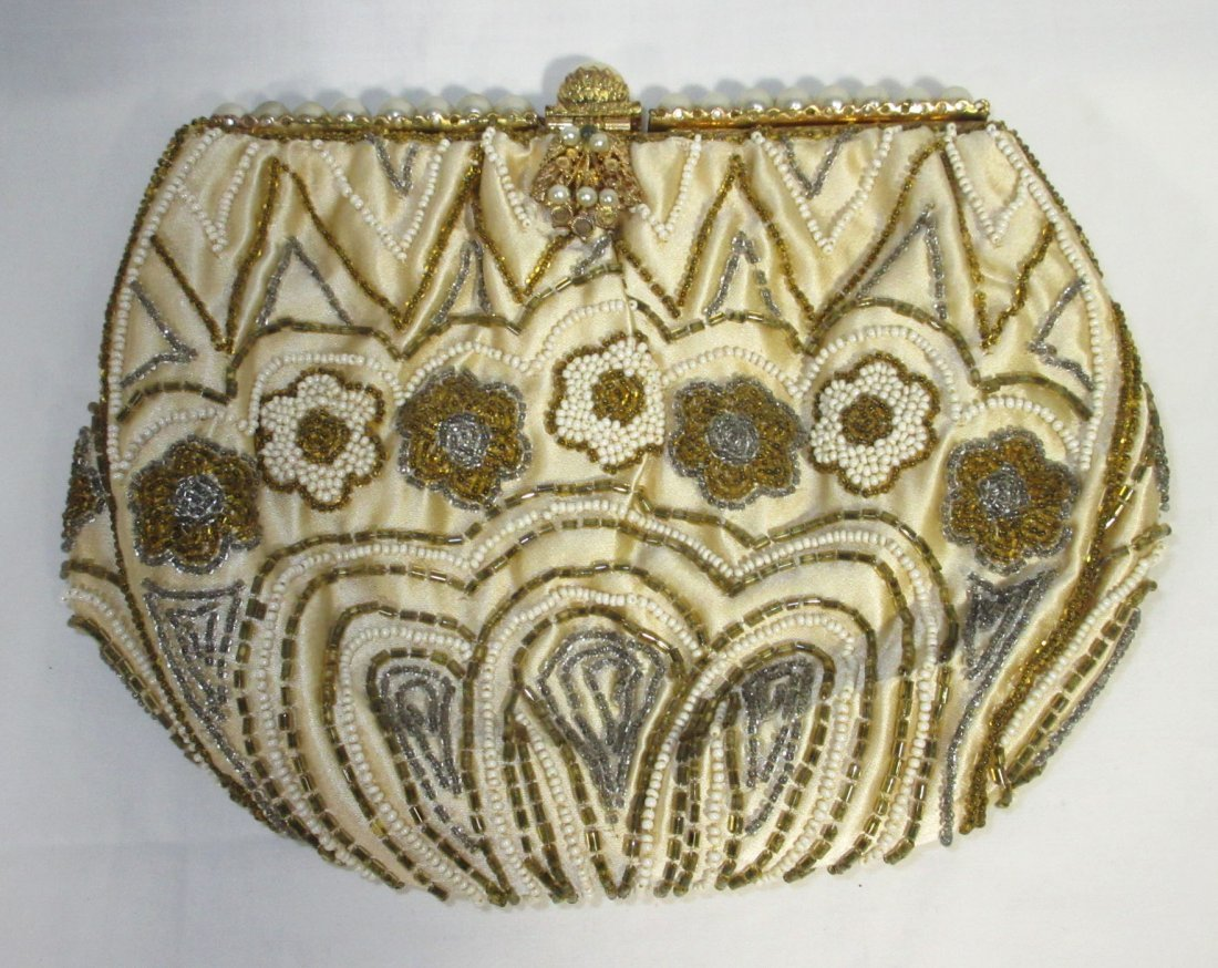 Handmade in France, Cecile Seed Bead Hand Bag - 2