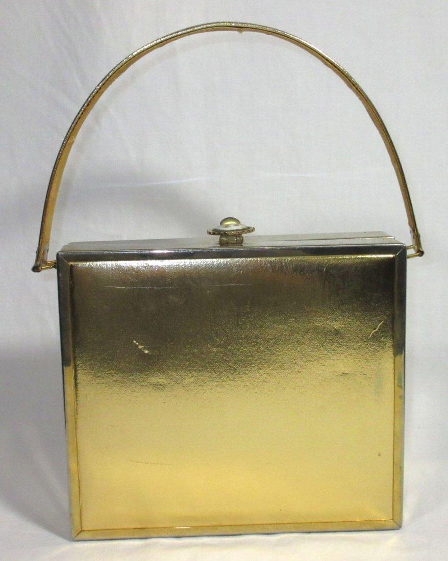 TYROLEAN Gold 1940's N.Y. Box Purse,Book Pc. - 5