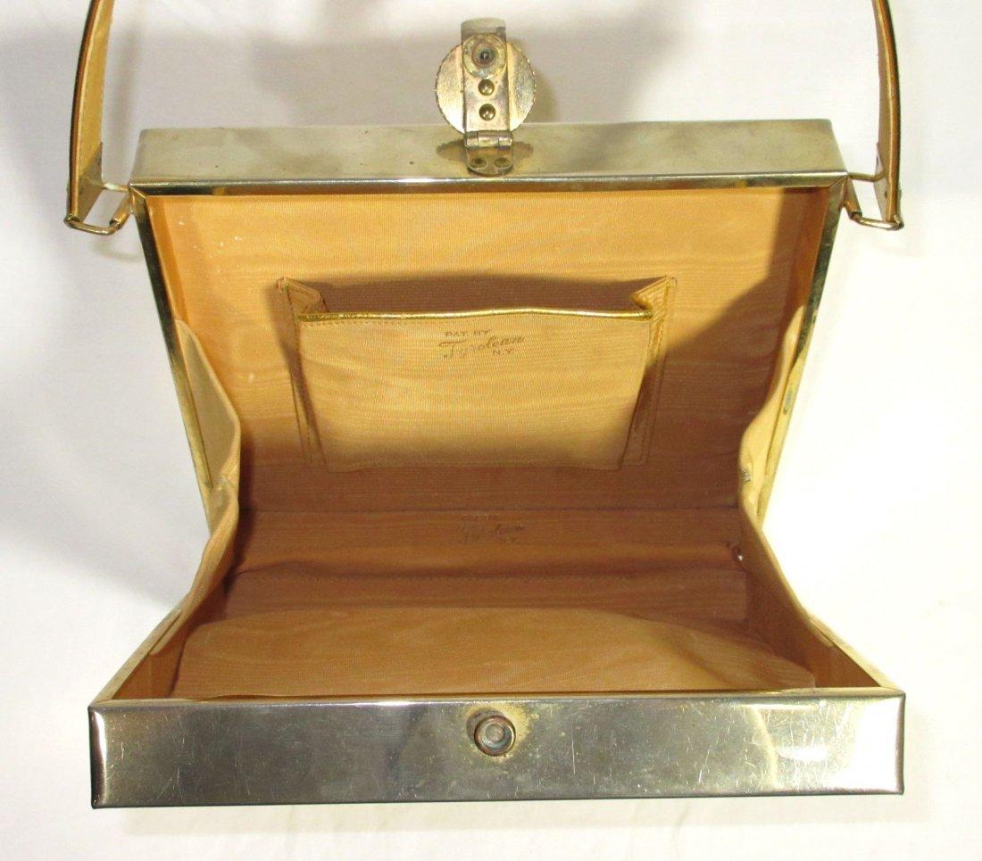 TYROLEAN Gold 1940's N.Y. Box Purse,Book Pc. - 6