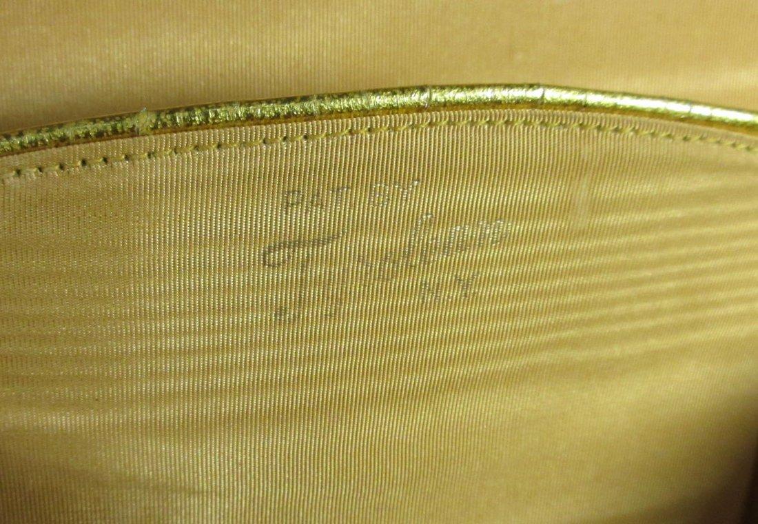 TYROLEAN Gold 1940's N.Y. Box Purse,Book Pc. - 7