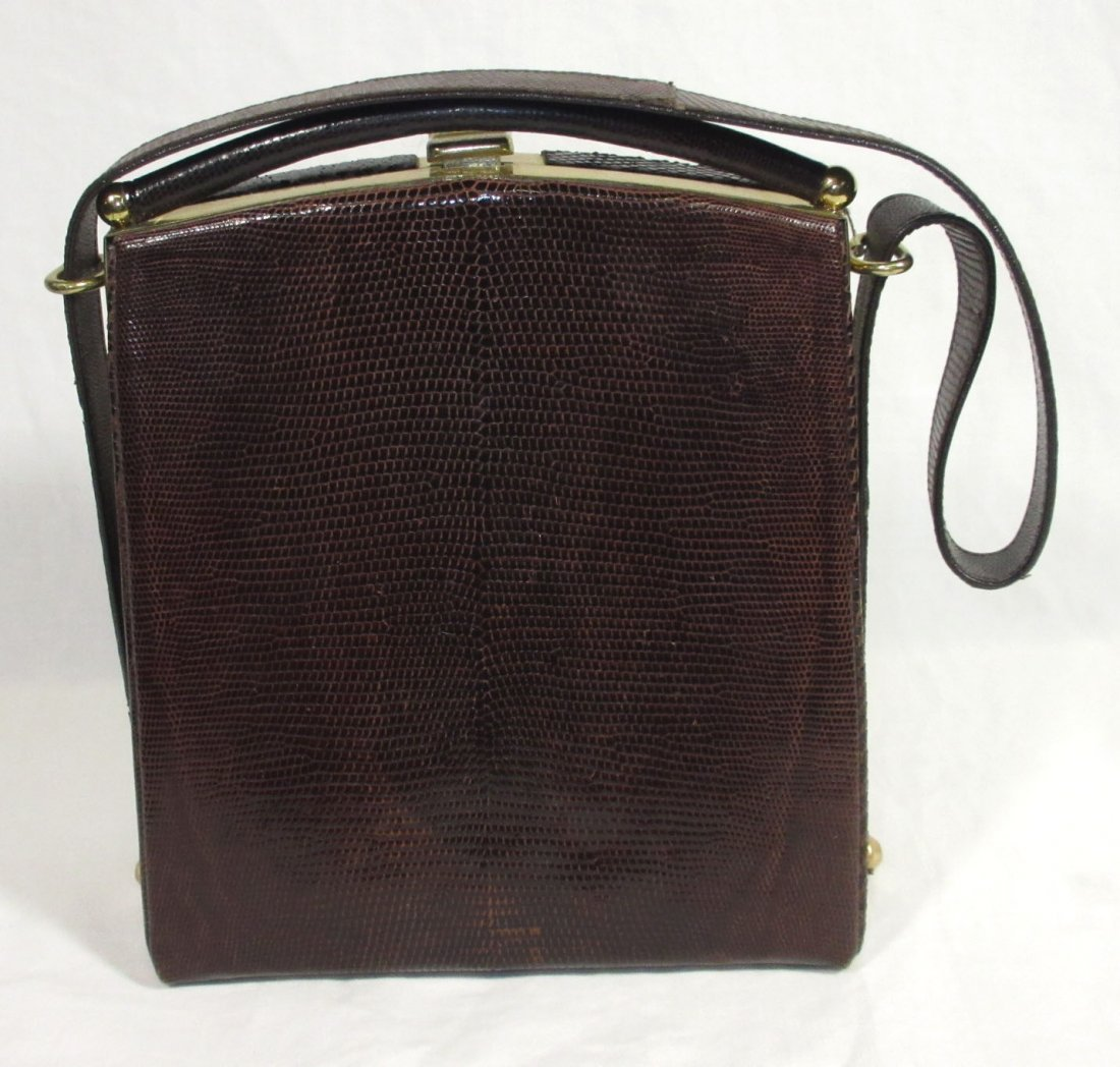 1940's Great, Brown, Lizard Handbag - 3