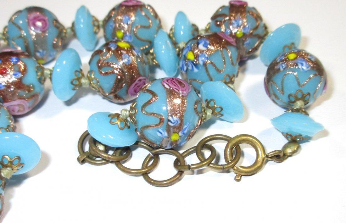 Beautiful Blue Wedding Cake Bead H.T.'d Choker - 4