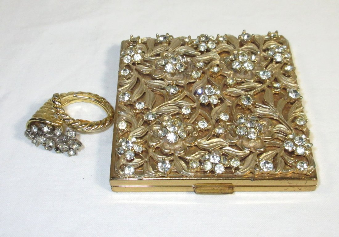Evans Rhinestone Compact & Cocktail Ring