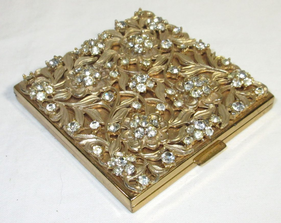 Evans Rhinestone Compact & Cocktail Ring - 4