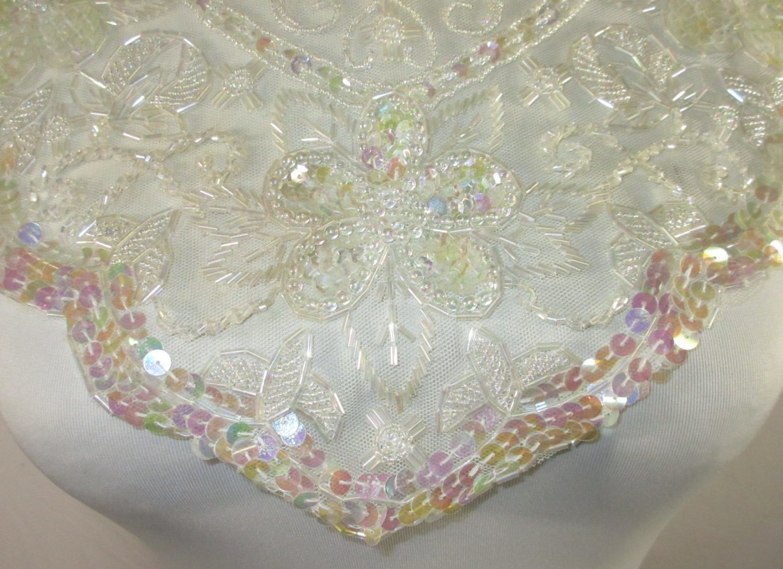 2 Tube Bead, Sequined Floral 50's Collars - 7