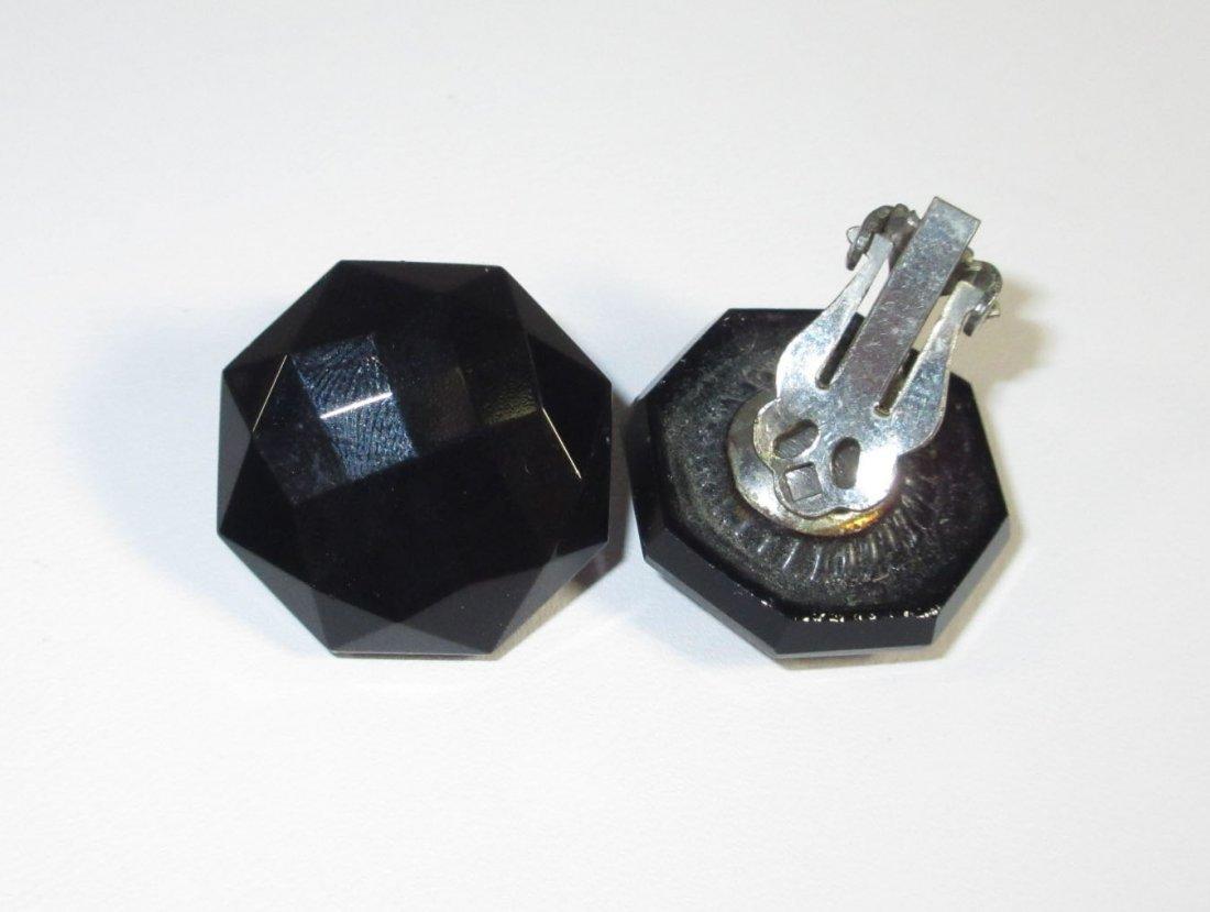 Black Glass Neck.-Brac.-Pin & Earrings Collection - 2