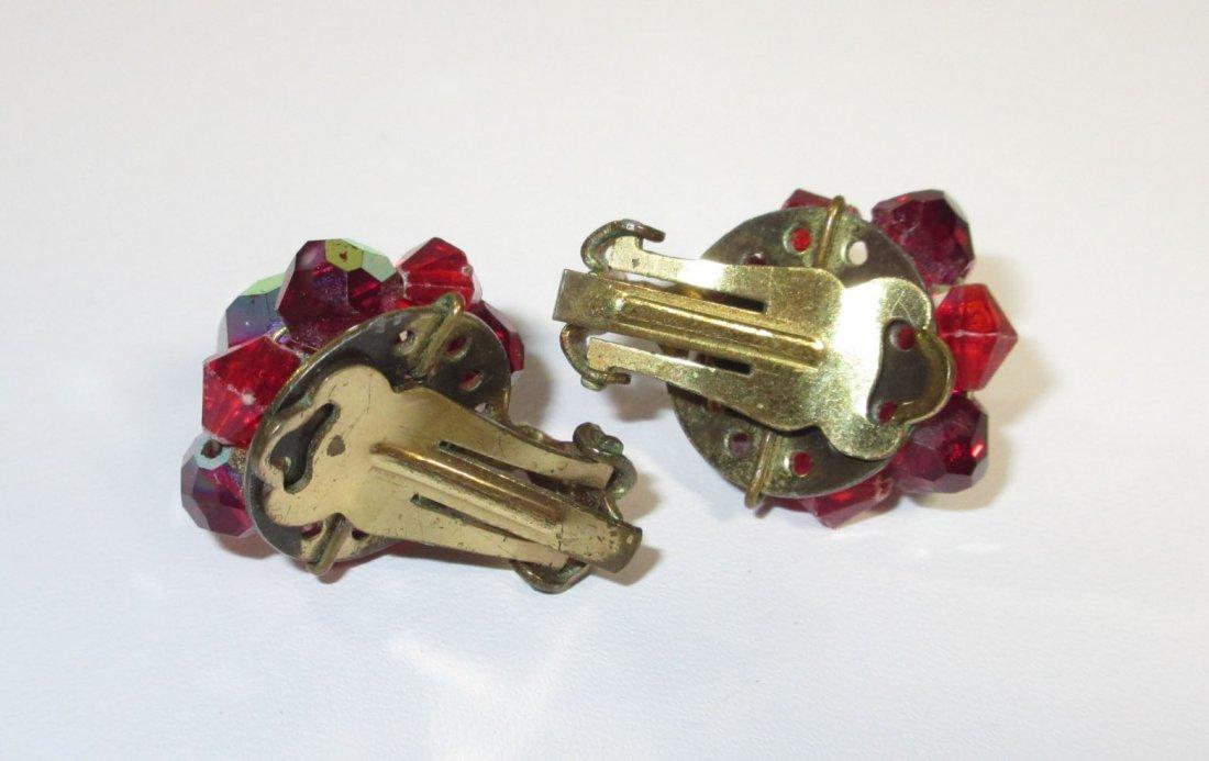 Shimmering Ruby AB Glass Bead Choker Set - 3