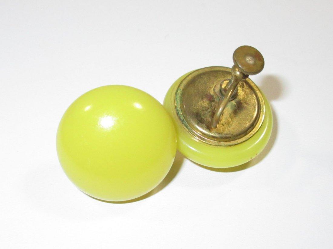 Quality Sunny Yellow Glass Bead Neck/Brac/Earr - 2