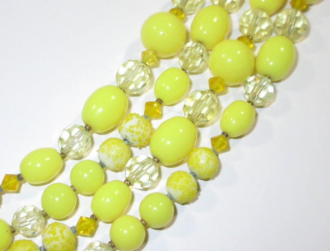 Quality Sunny Yellow Glass Bead Neck/Brac/Earr - 6