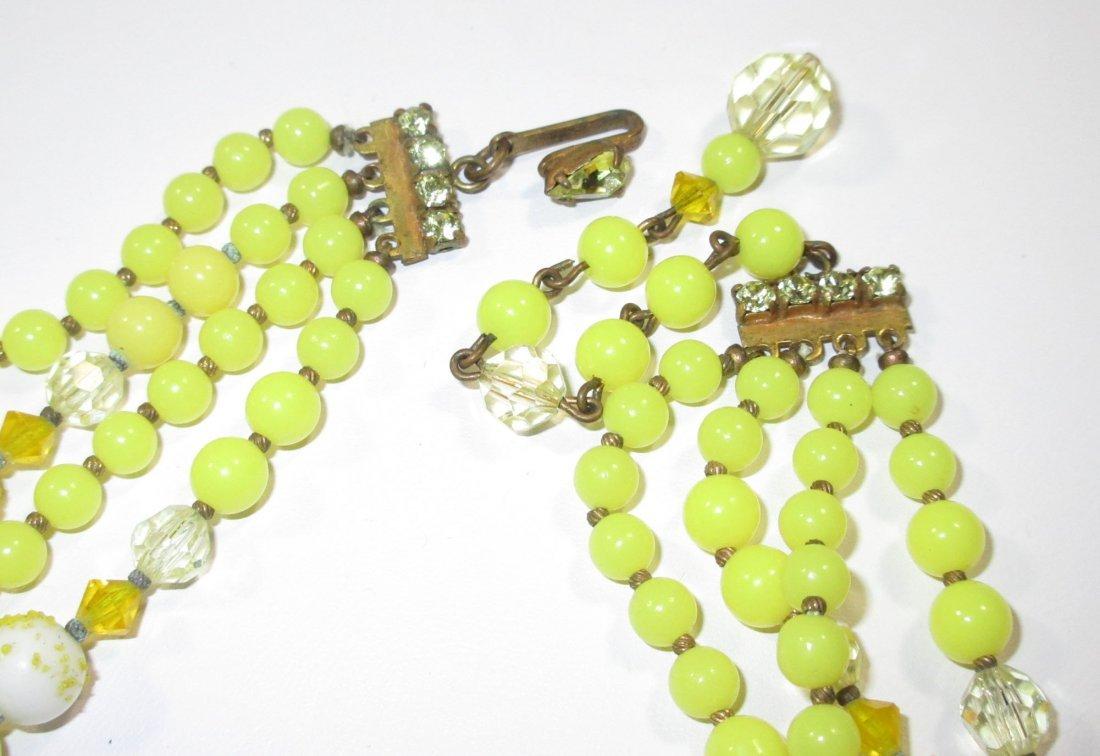 Quality Sunny Yellow Glass Bead Neck/Brac/Earr - 7