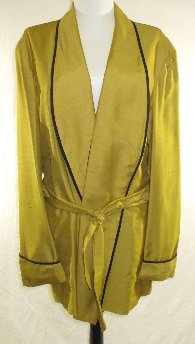1950's Saks Fifth Avenue Gold Smoking Jacket