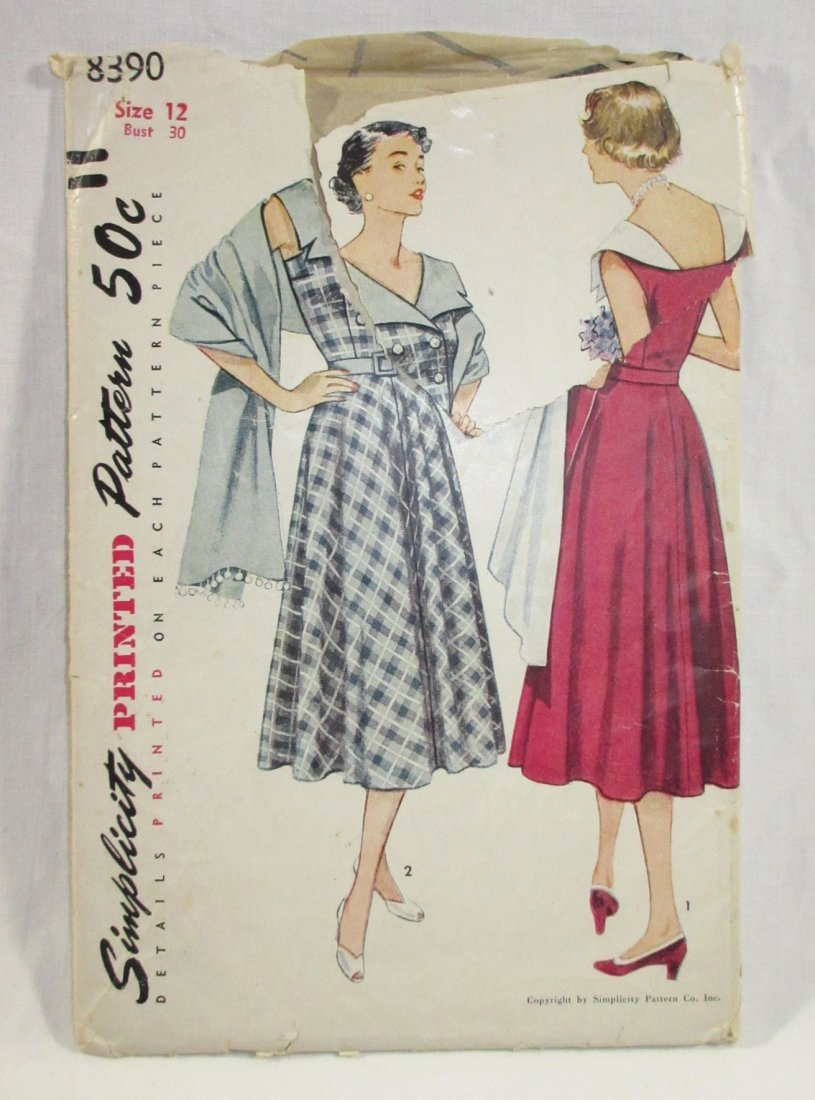 (3) Classic 50's Dress/Culotte Patterns, Bust 30/31 - 2