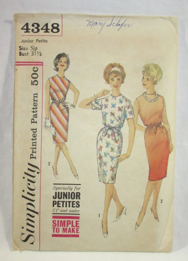 (3) Classic 50's Dress/Culotte Patterns, Bust 30/31 - 4