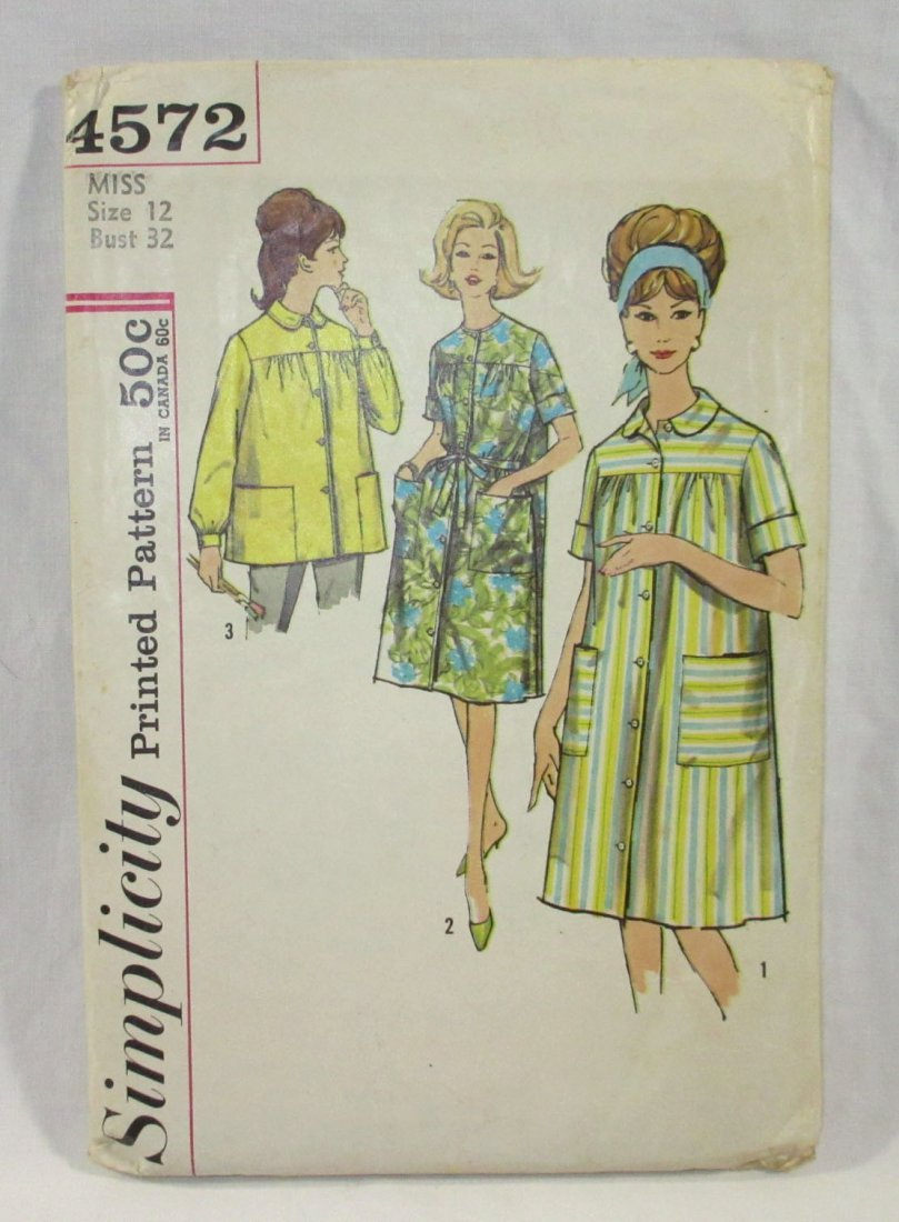 (7) 50's Dress & Blouse Patterns, Bust 32 - 5