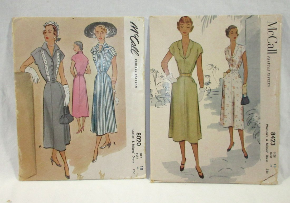 9 Great 50's Bust 36 Dress Patterns - 2