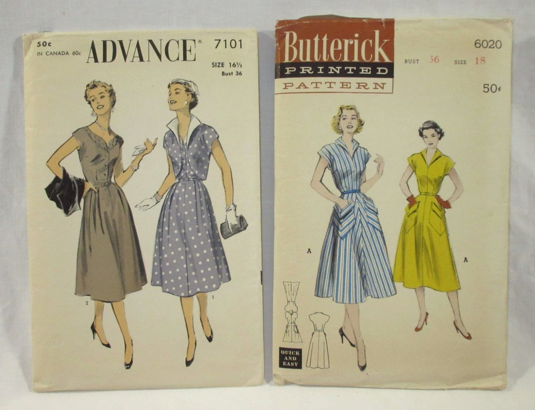 9 Great 50's Bust 36 Dress Patterns - 3