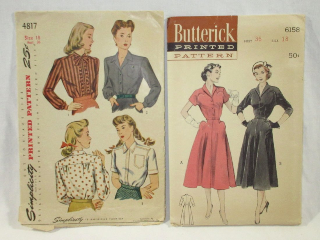 9 Great 50's Bust 36 Dress Patterns - 4