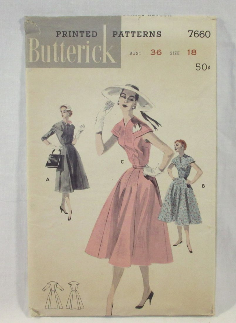 9 Great 50's Bust 36 Dress Patterns - 5