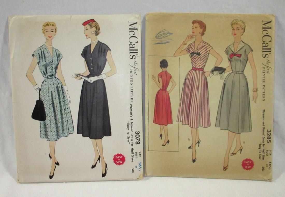 1950's Half Size Dress Patterns. Bust 37