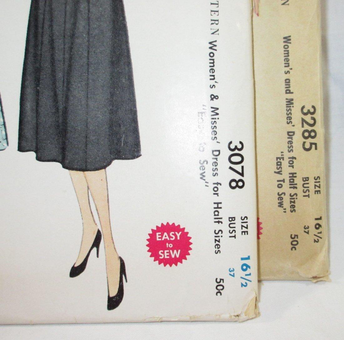 1950's Half Size Dress Patterns. Bust 37 - 2