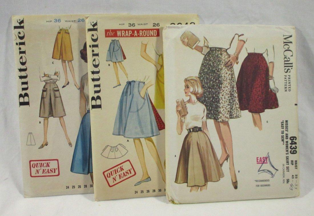 1950's Skirt Patterns. Waist 26 & 32