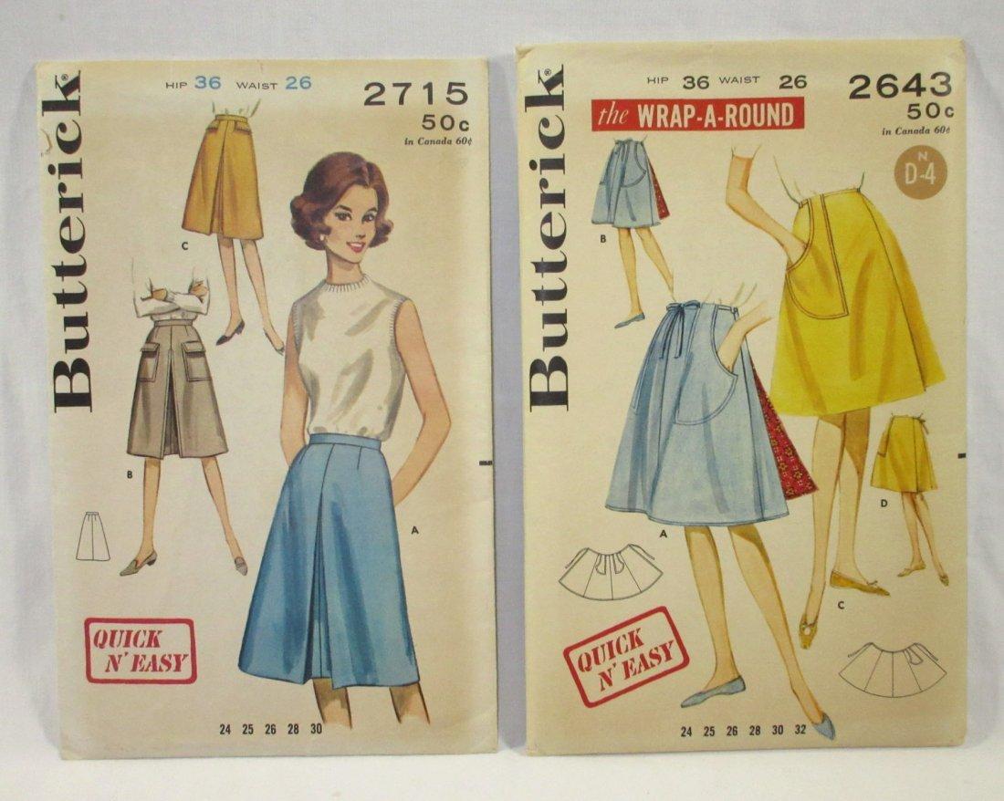 1950's Skirt Patterns. Waist 26 & 32 - 2