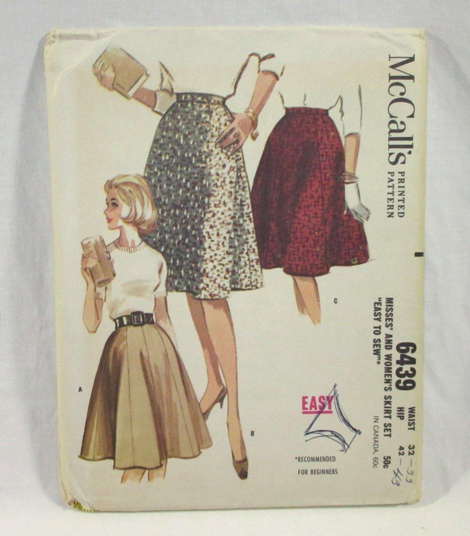 1950's Skirt Patterns. Waist 26 & 32 - 3
