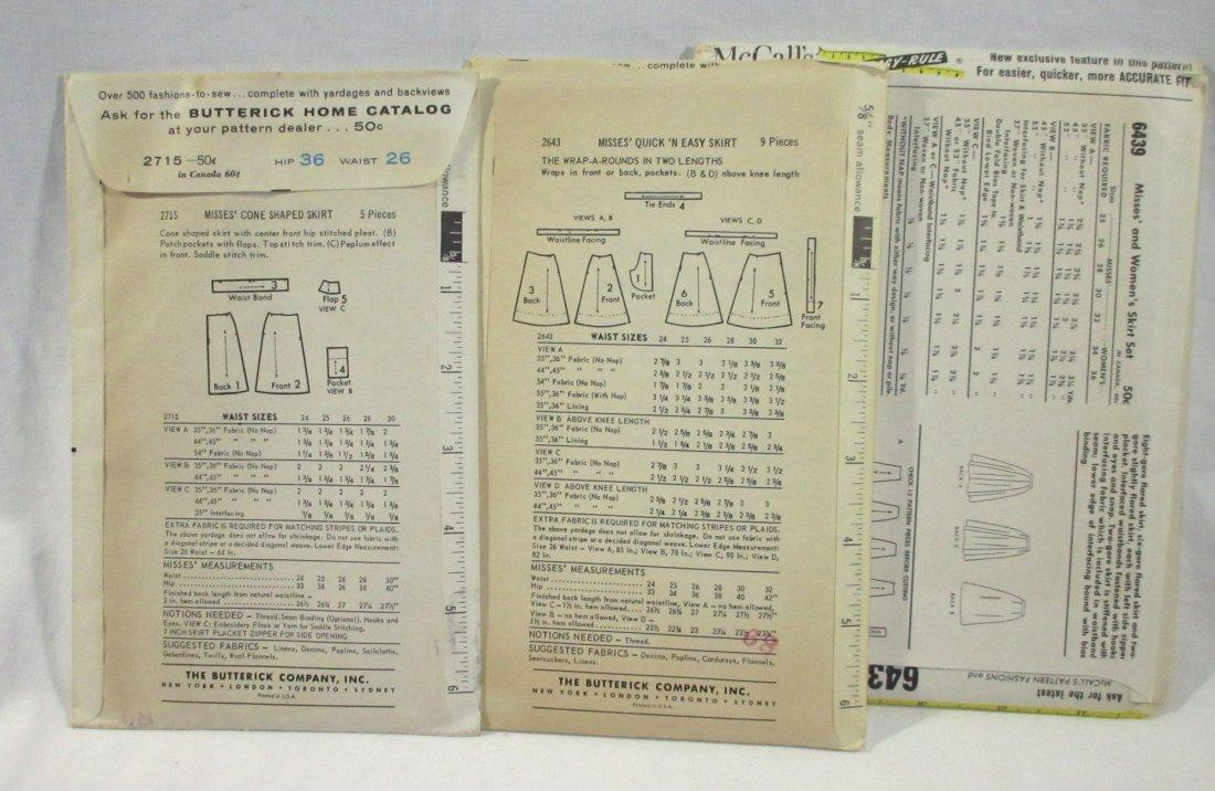1950's Skirt Patterns. Waist 26 & 32 - 4