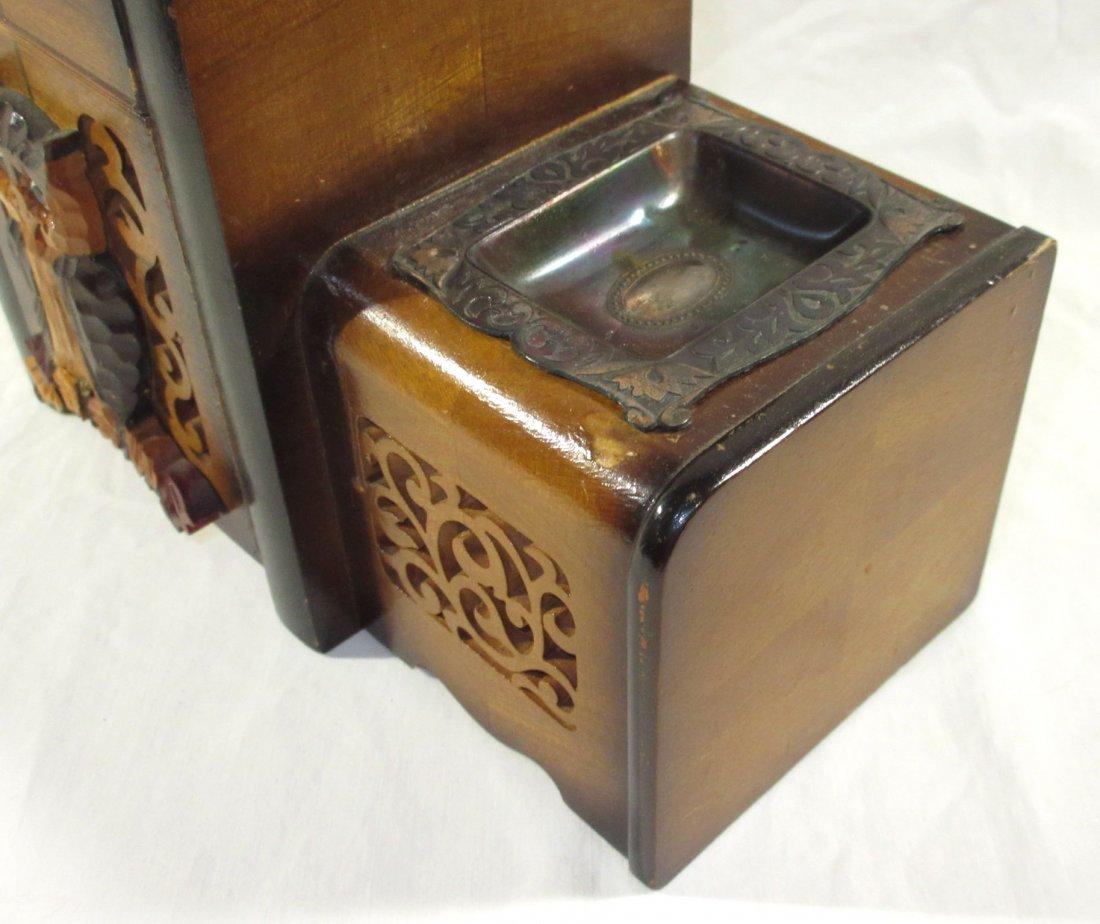 Unique Ornate Cigarette Music Wooden Owl Box - 4