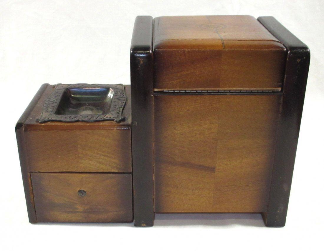 Unique Ornate Cigarette Music Wooden Owl Box - 5