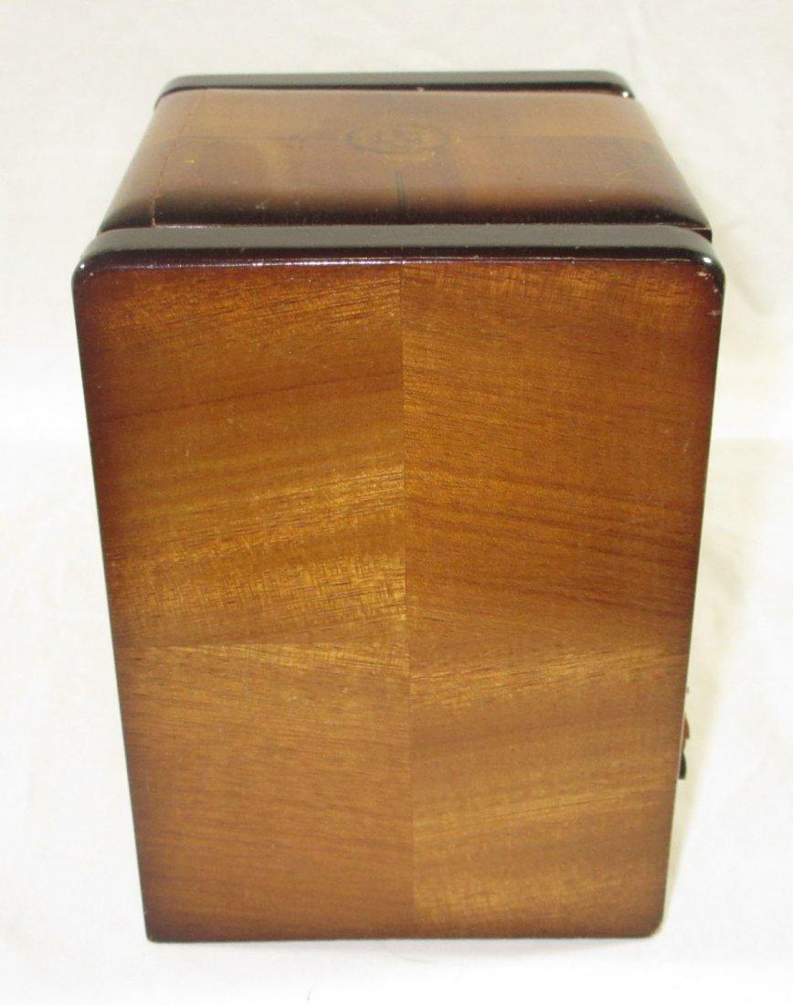 Unique Ornate Cigarette Music Wooden Owl Box - 7