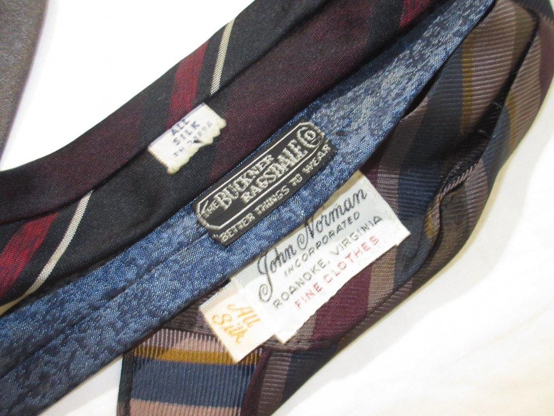 100% Silk 1950's - 6pc Men's Ties - 5