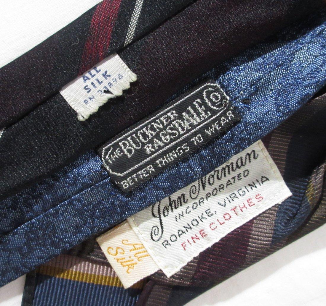 100% Silk 1950's - 6pc Men's Ties - 6