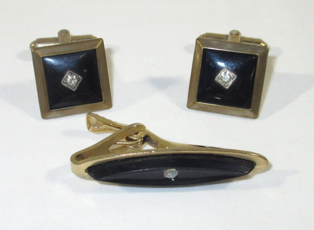 Great Leather Men's Box w/ 2 Cuff Link Sets - 2