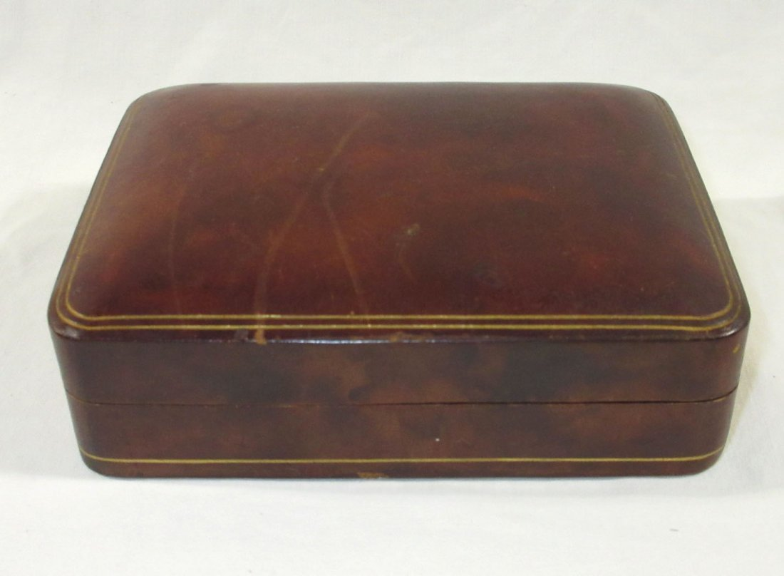 Great Leather Men's Box w/ 2 Cuff Link Sets - 5