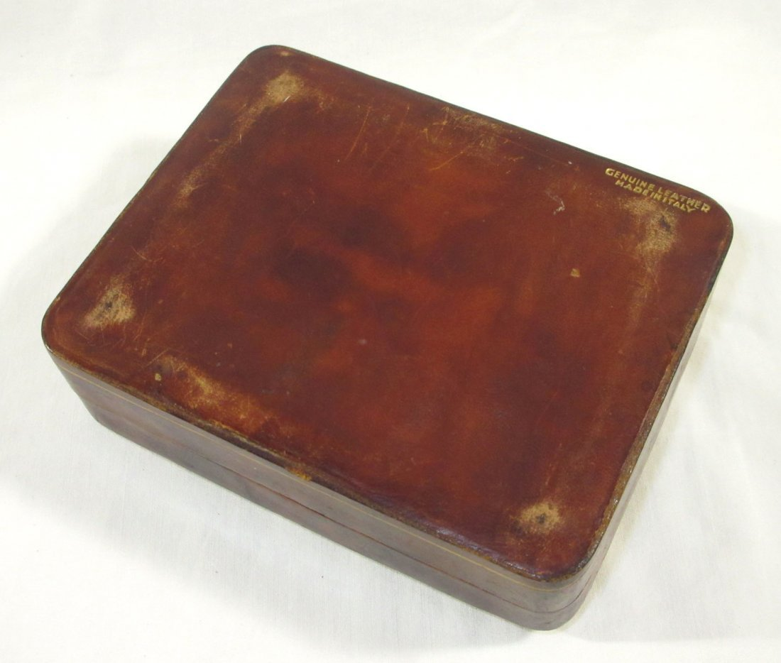 Great Leather Men's Box w/ 2 Cuff Link Sets - 6