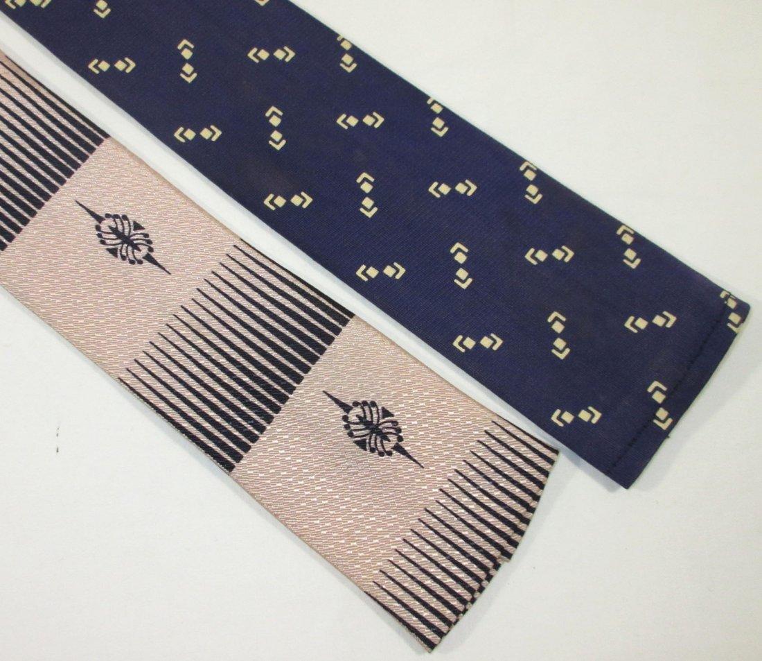 2 Classic 50's Square Bottom Tie's - 2
