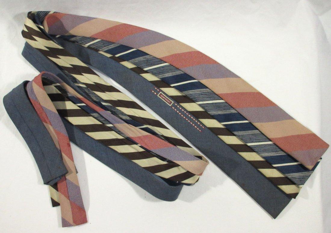 4 Vintage Square Bottom Men's Tie's