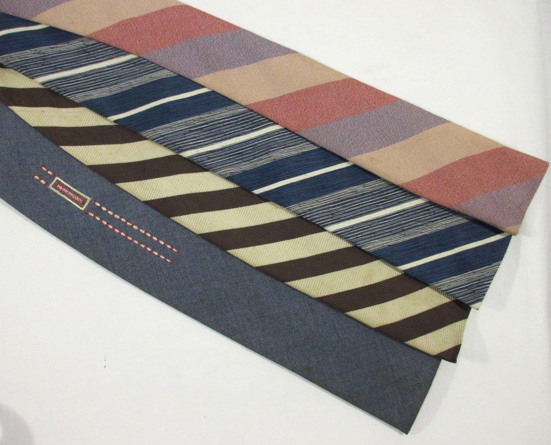 4 Vintage Square Bottom Men's Tie's - 2