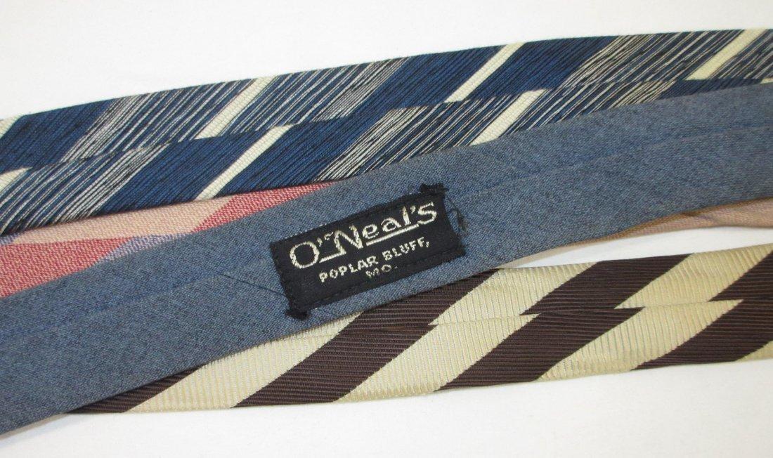 4 Vintage Square Bottom Men's Tie's - 3
