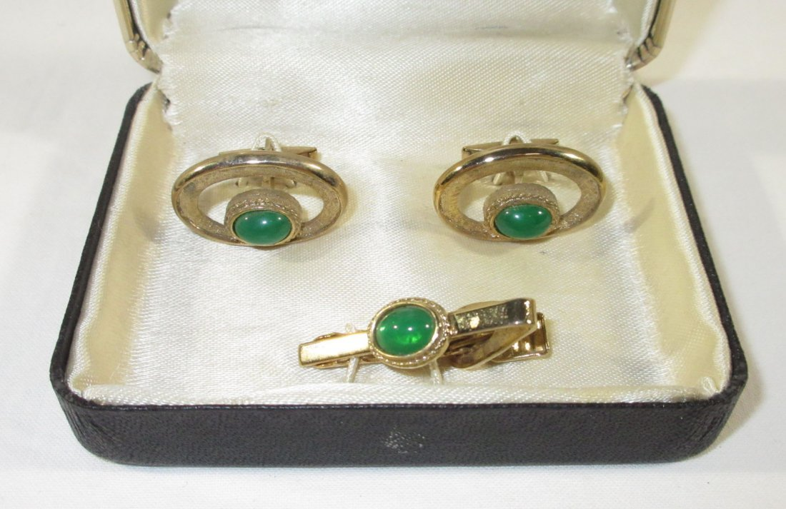 2 Boxed Pr.'s Men's Cuff Links & Tie Clips - 2