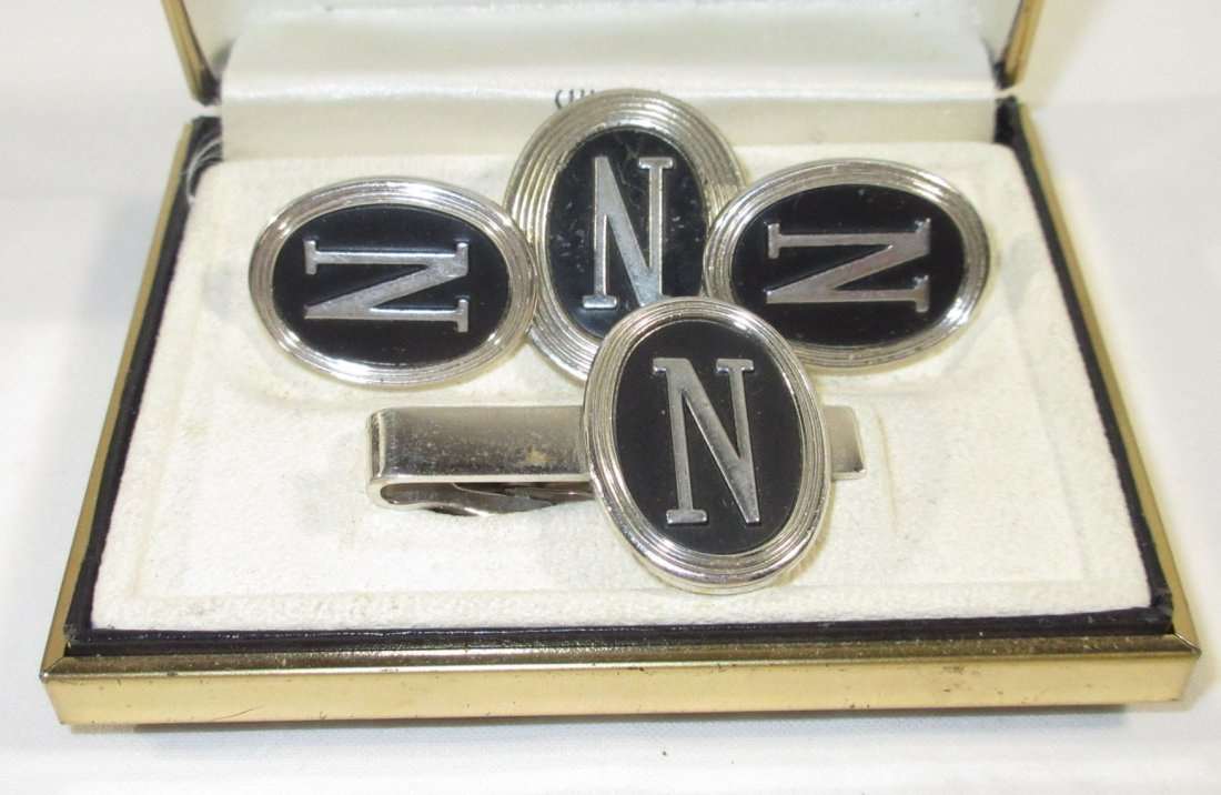 2 Boxed Pr.'s Men's Cuff Links & Tie Clips - 3