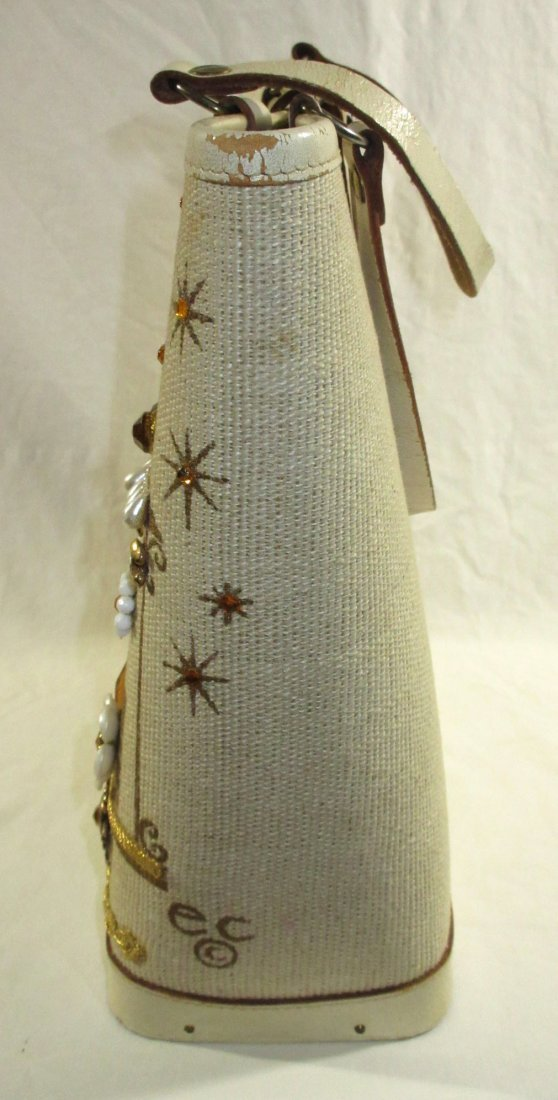 1960's Enid Collins Cable Car Jeweled Canvas Bag - 3