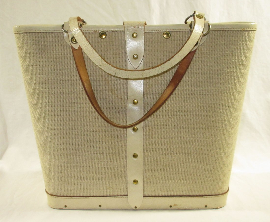 1960's Enid Collins Cable Car Jeweled Canvas Bag - 4