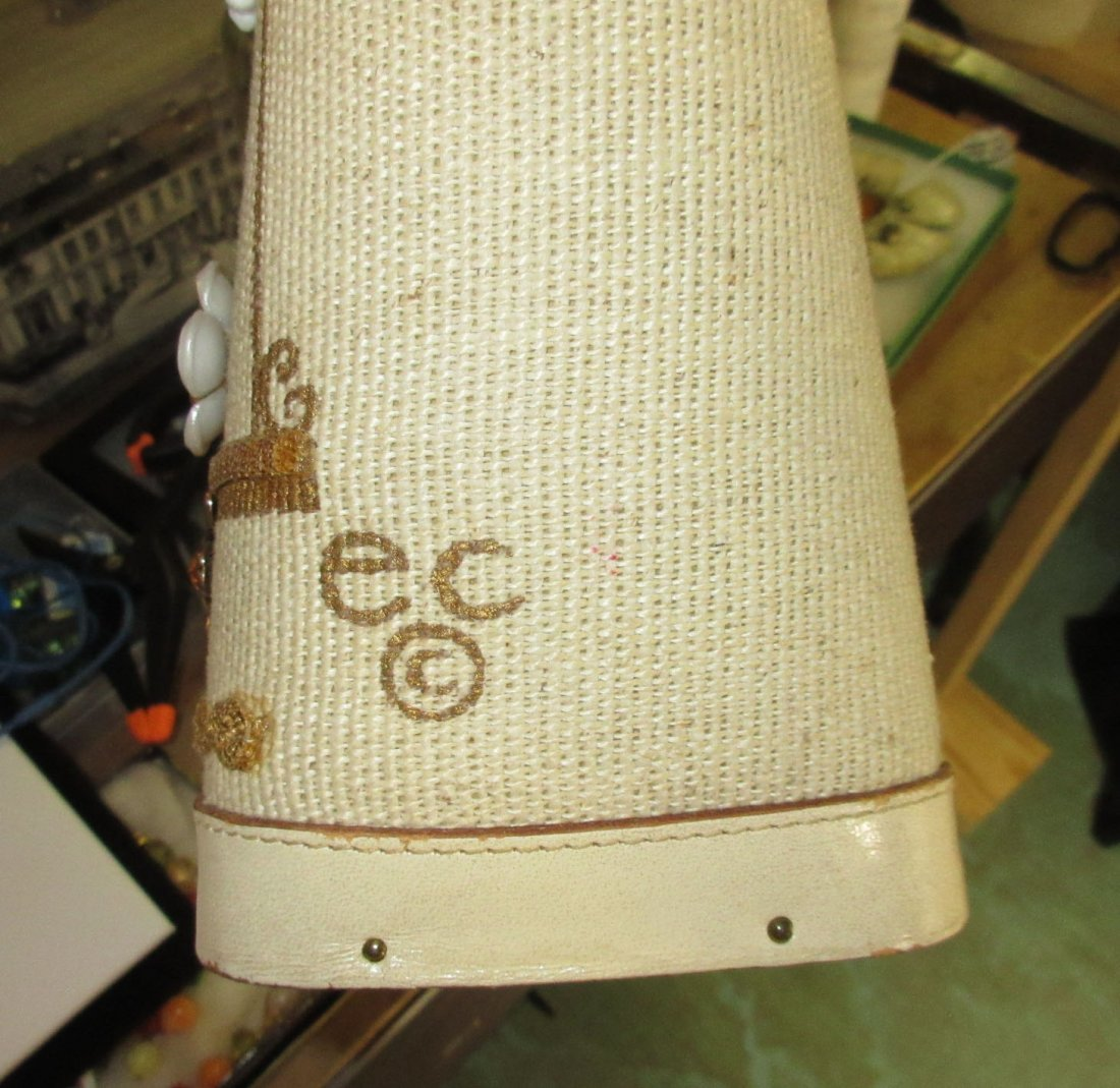 1960's Enid Collins Cable Car Jeweled Canvas Bag - 9