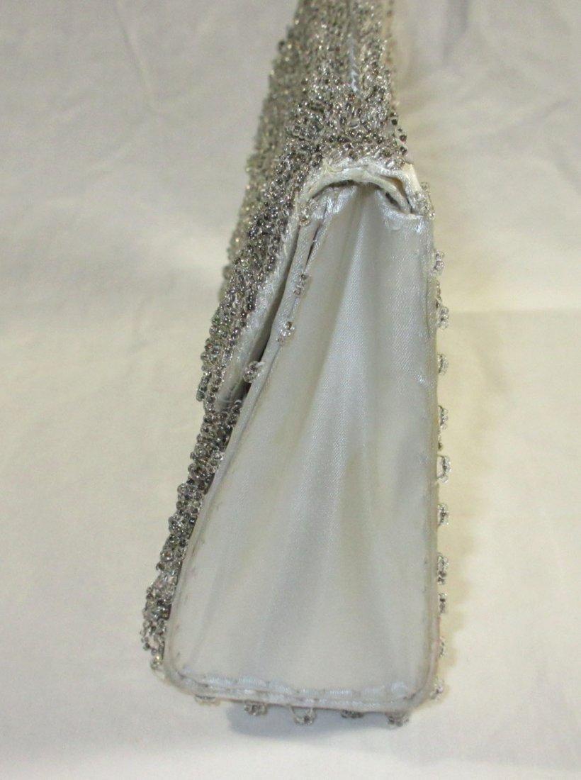 Handmade Silver Bead Evening Bag & Shoe Clips - 3