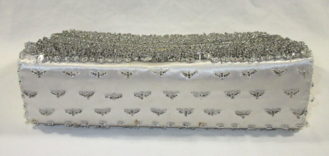 Handmade Silver Bead Evening Bag & Shoe Clips - 5
