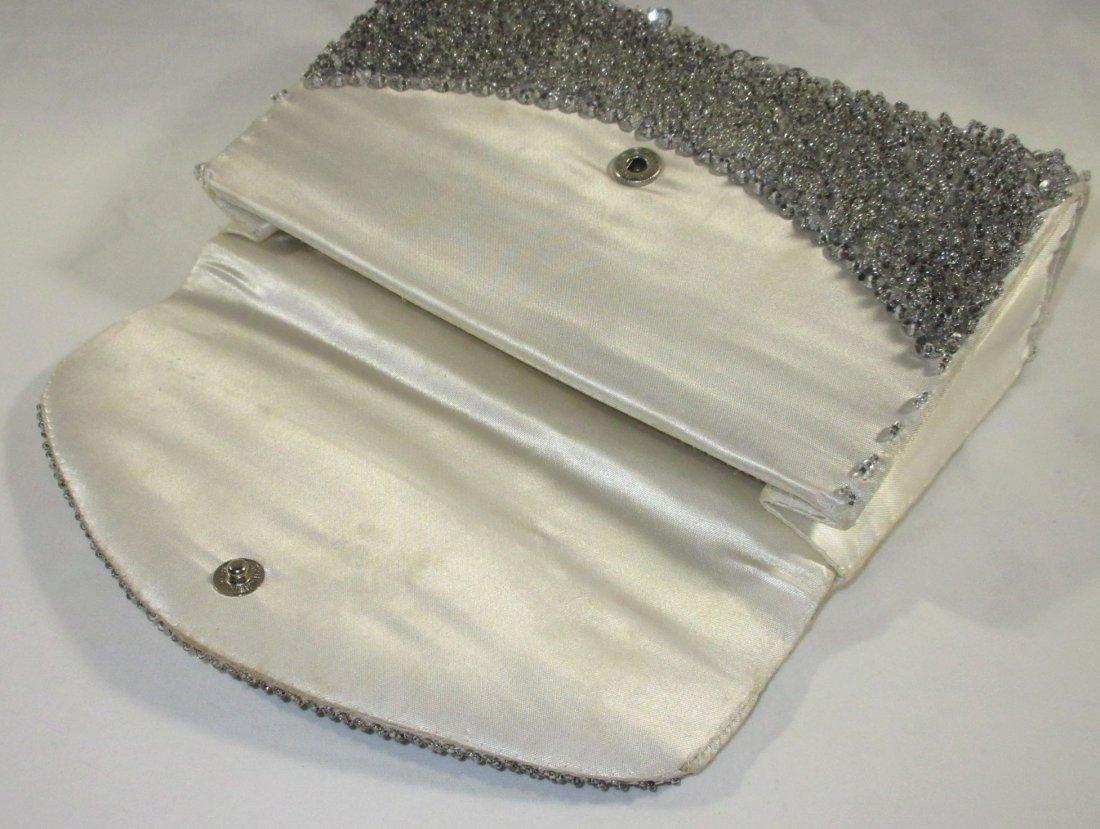 Handmade Silver Bead Evening Bag & Shoe Clips - 6