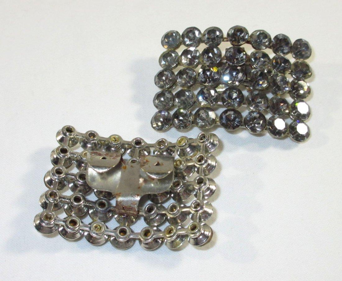Handmade Silver Bead Evening Bag & Shoe Clips - 7