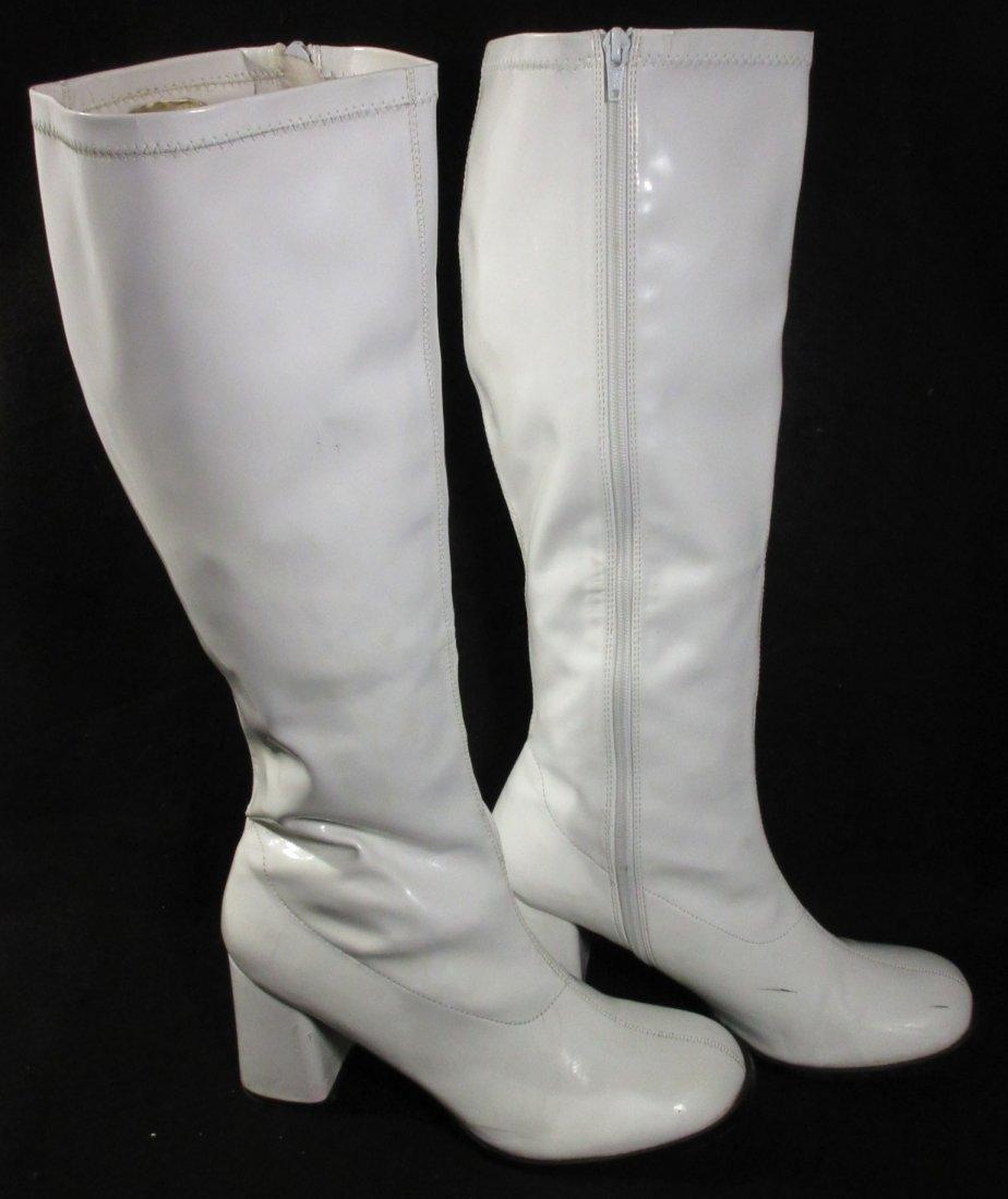 "White Plastic Reproduction ""GO GO"" Boots"